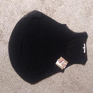 Rachel Roy Light Sweater Tank Top. XS Black